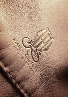Match and Fable Logo - Tan Leather Print