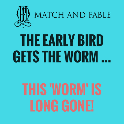 MF SIGN - EARLY BIRD GETS WORM - WORM IS GONE