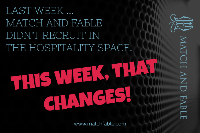 MF Hospitaility - This Week That Changes